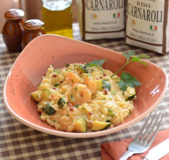 Risotto Gamberi e Zucchini