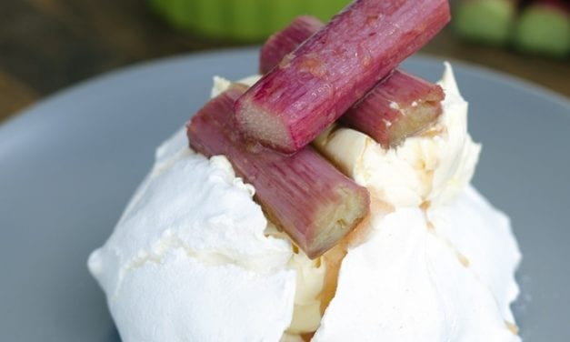 Roasted Rhubarb with Stem Ginger