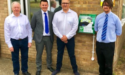 DEFIBRILLATOR INSTALLED AT LIFELINE FIRE & SECURITY